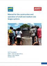 Manual for the construction and operation of small and medium size biogas systems